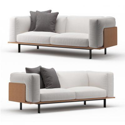 Recess Linteloo 3-Seater Sofa 3D Model