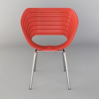 Red Flush Chair 3D Model