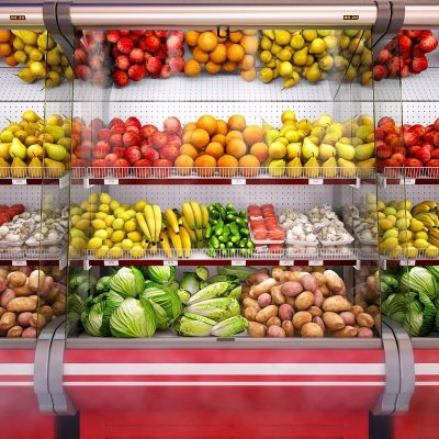 Refrigerated showcase Vegetables 3D model