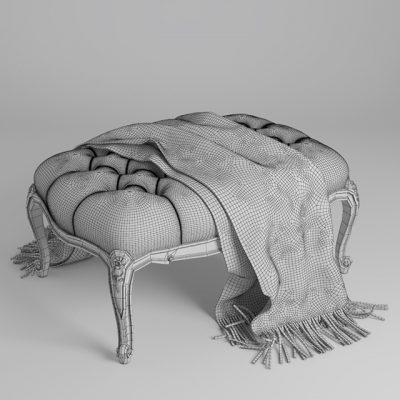 Renoir Pouf 3D Model 4