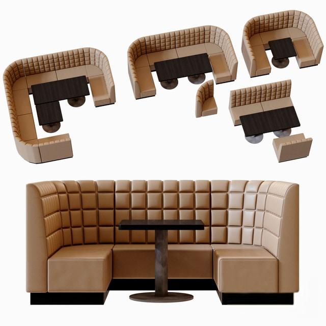 Restaurant Dining Chair Set 3D Model