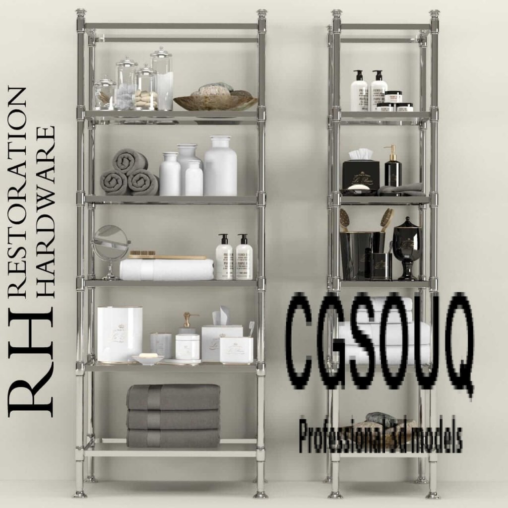 Restoration hardware bathroom accessories 3d model for Bathroom design 3d model