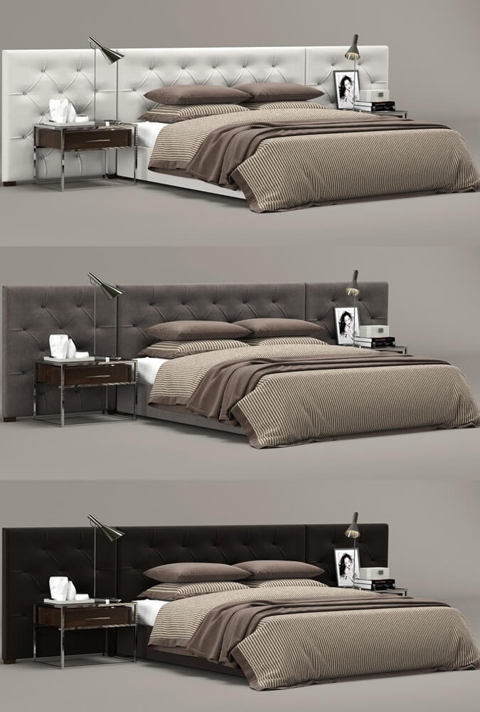 Restoration hardware bed 3d model for download for Restoration hardware bedside tables