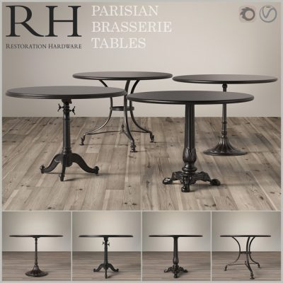 Restoration Hardware Brasserie Table 3D Model