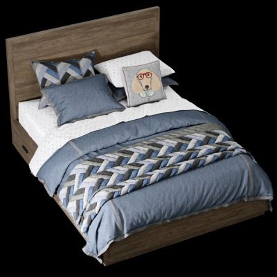 Restoration Hardware Forrest Storage Bed 3D Model