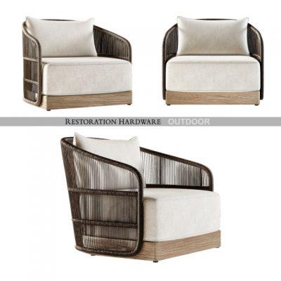 Restoration Hardware Havana Lounge Armchair 3D Model
