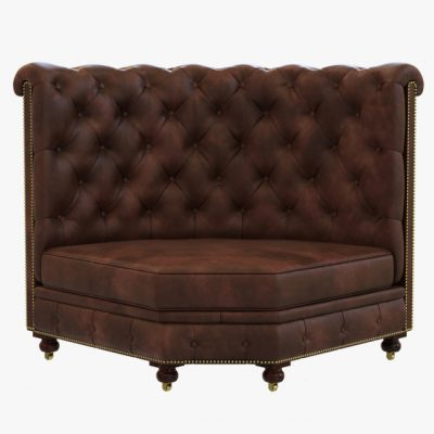 Restoration Hardware Kensington Leather Corner Banquette Sofa 3D Model