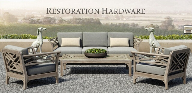 Restoration Hardware King Collection Outdoor Furniture Set 2