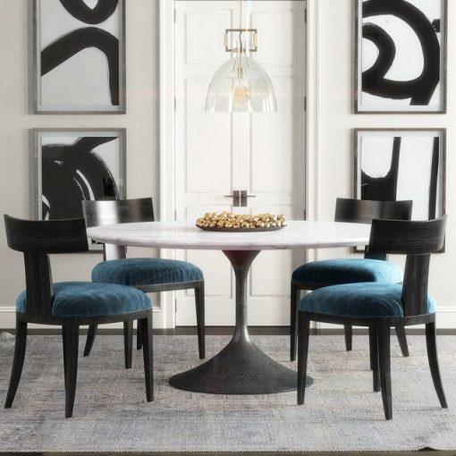 Restoration Hardware Klismos Table & Chair 3D Model