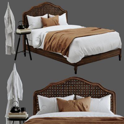Restoration Hardware – Lorraine Caned Bed 3D Model