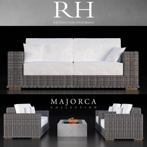 Restoration Hardware Majorca Sofa Collection 3D Model