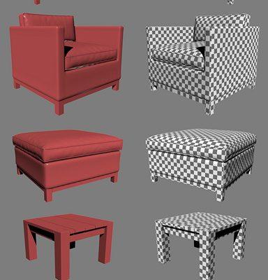 Restoration Hardware Malibu Sofa Collection 3D Model