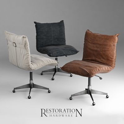 Restoration Hardware Platt Desk Chair 3D Model