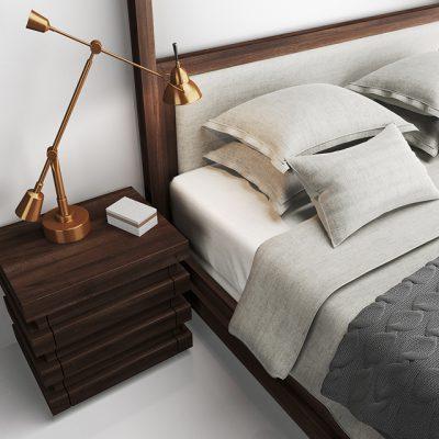 Restoration Hardware Stacked Bed 3D Model