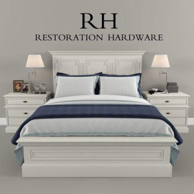 Restoration Hardware bed 2 3D model