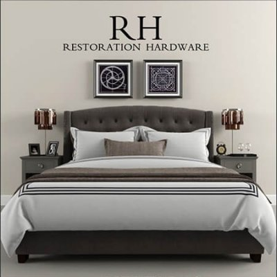 Restoration Hardware bed 02 3D model