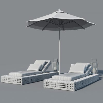 Restoration Outdoor Set 3D Model