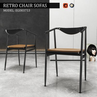 Retro Chair 3D Model