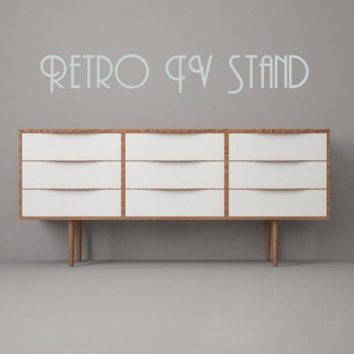 Retro Tv Stand 3 - Sideboard 3D Model