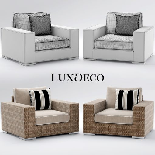Riviera Outdoor Sofa Collection 3D Model 3