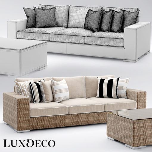 Riviera Outdoor Sofa Collection 3D Model 4
