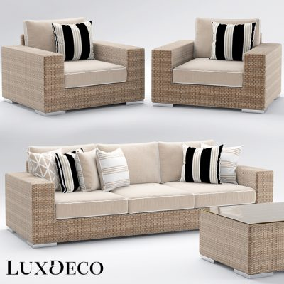 Riviera Outdoor Sofa Collection 3D Model
