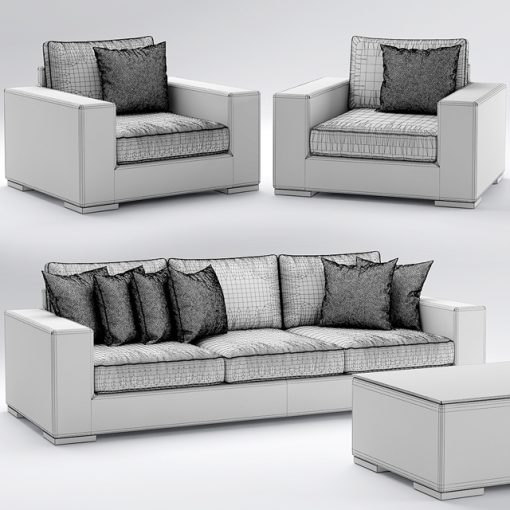Riviera Outdoor Sofa Collection 3D Model 5