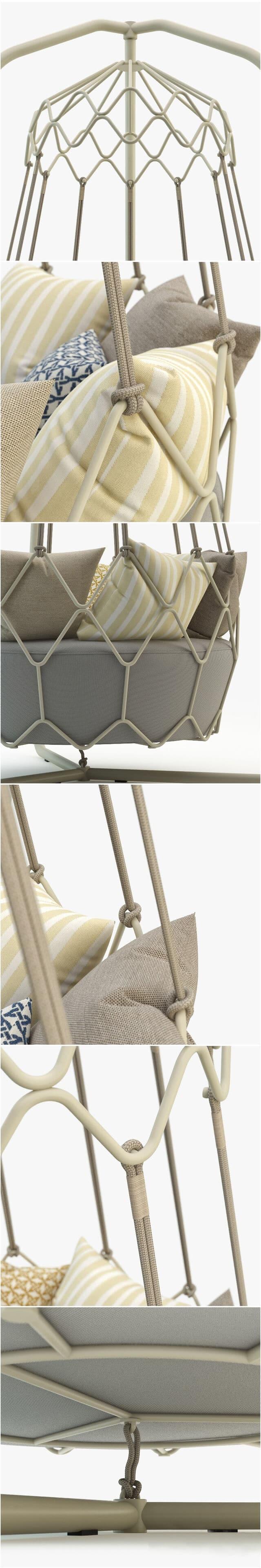 Roberti Rattan Gravity Outdoor Furniture 3D Model (1)