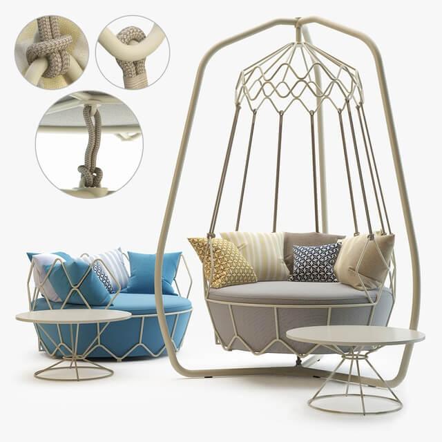 Roberti Rattan Gravity Outdoor Furniture 3D Model (2)