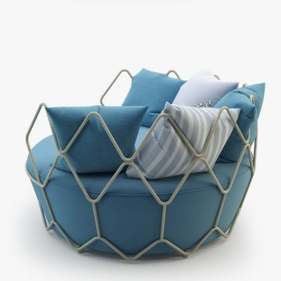 Roberti Rattan Gravity Outdoor Furniture 3D Model