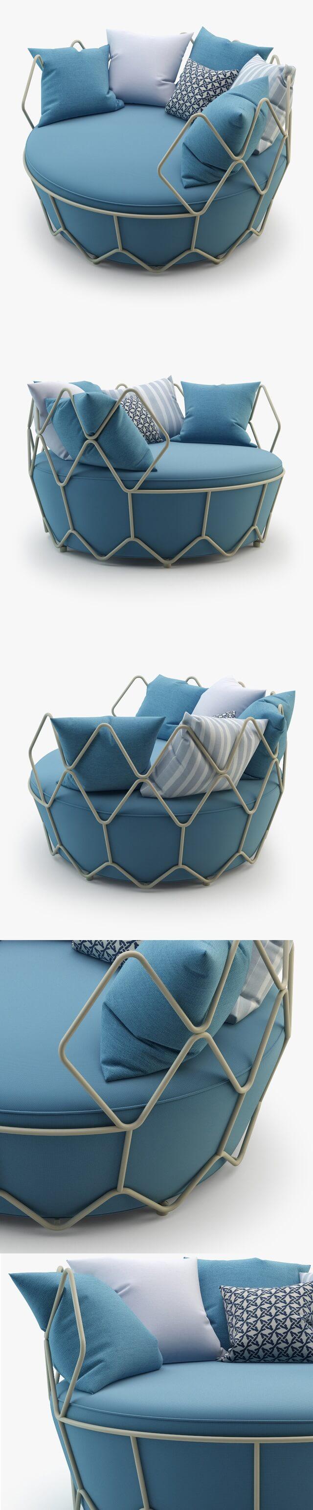 Roberti Rattan Gravity Outdoor Furniture 3D Model (3)