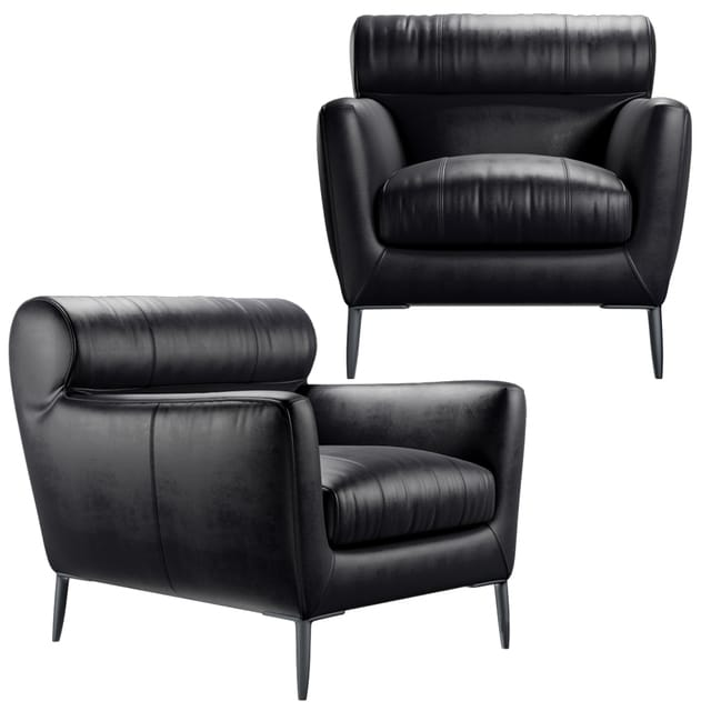 Awe Inspiring Roche Bobois Poltrona Virgule Armchair 3D Model Bralicious Painted Fabric Chair Ideas Braliciousco