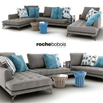 Roche Bobois Symbole Composition Sofa Set-01 3D Model