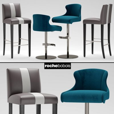 Roche Bobois Tabouret Carioca Steeple Bar Stool Chair 3D Model