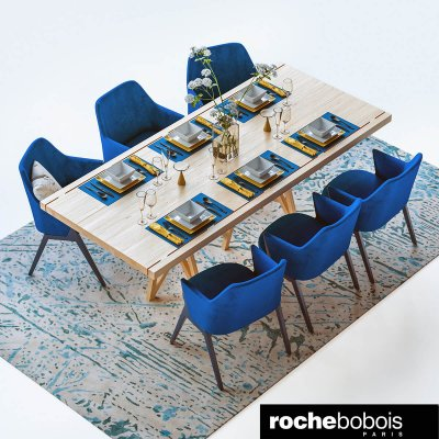 Roche bobois furniture set 3D model (1)