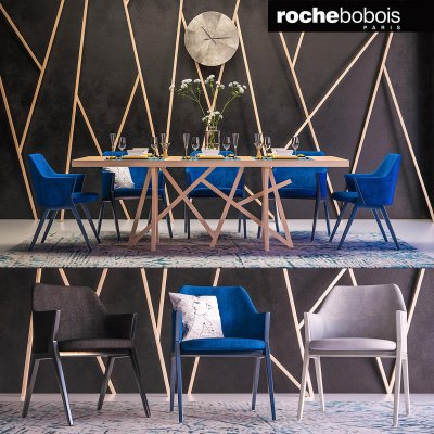 Roche bobois furniture set 3D model (3)