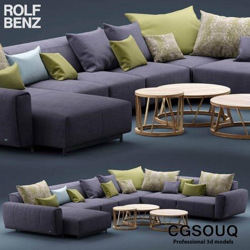 Rolf Benz Teno Sofa 3D model (1)