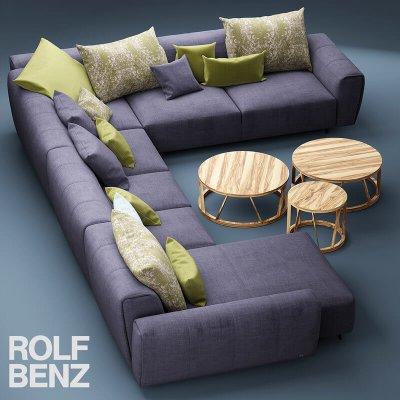 Rolf Benz Teno Sofa 3D model (3)