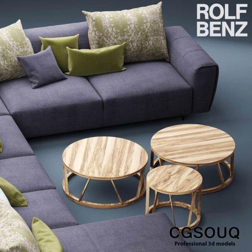 Rolf Benz Teno Sofa 3D model (5)