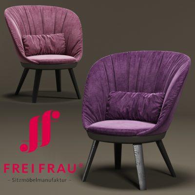 Romy Fabric Armchair 3D Model