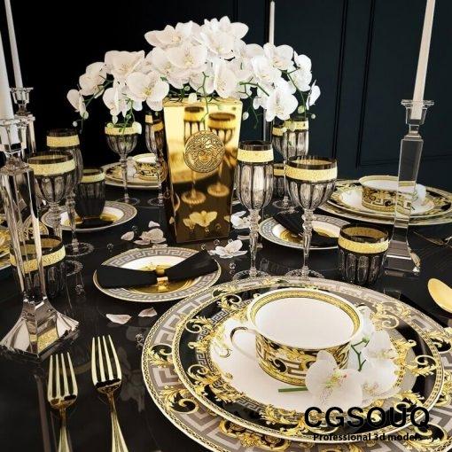 Rosenthal Versace Prestige Gala Tableware 3D model 1