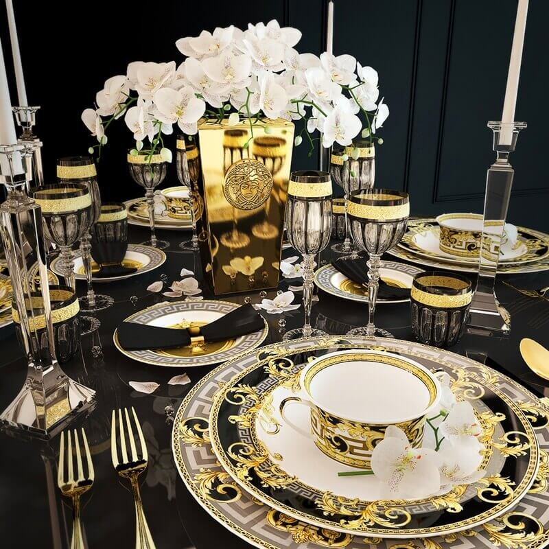 Rosenthal Versace Prestige Gala Tableware 3d Model For