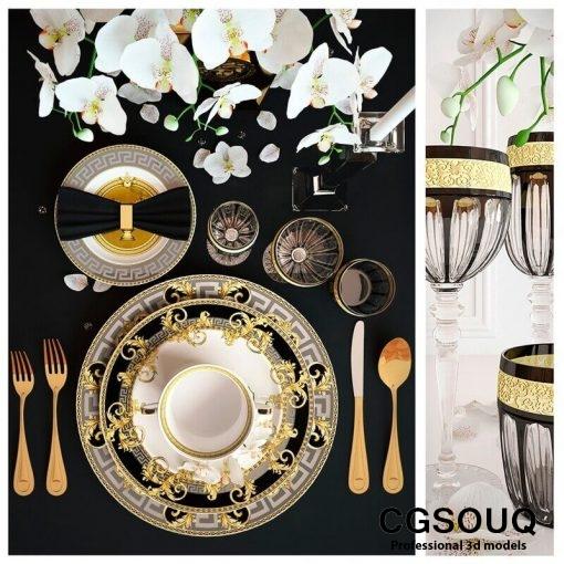 Rosenthal Versace Prestige Gala Tableware 3D model 2