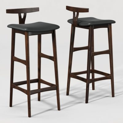 Rosewood Bar Stool 3D Model