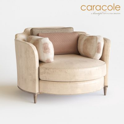 Round And Round Caracole Armchair 3D Model
