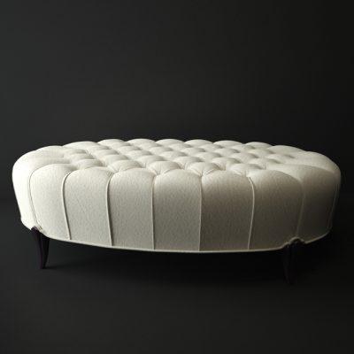 Round Pouf 3D Model