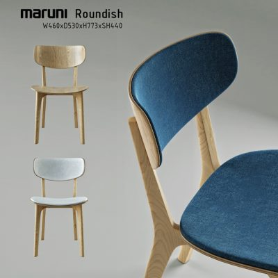 Roundish Maruni Chair 3D Model