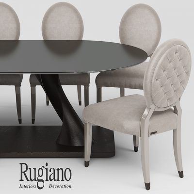 Rugiano Table & Chair 3D Model