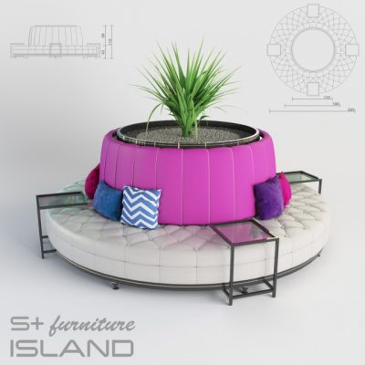 S+ Furniture Island Sofa 3D Model