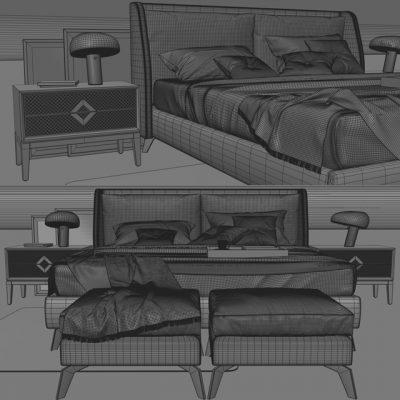 SC Enzo Bed 3D Model